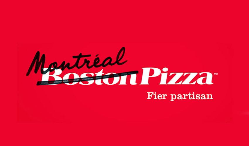 Publicité hockey Boston Pizza