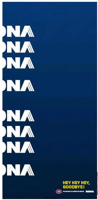 Publicité pour les séries Rona