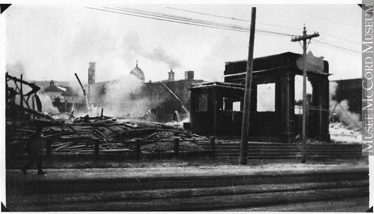 Incendie à l'Aréna Westmount